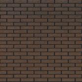 Облицовочный кирпич коричневый рифленый - кирпичная кладка